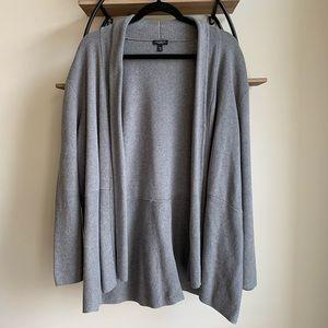 Talbots Petites Gray Knit Open Front Cardigan 3X